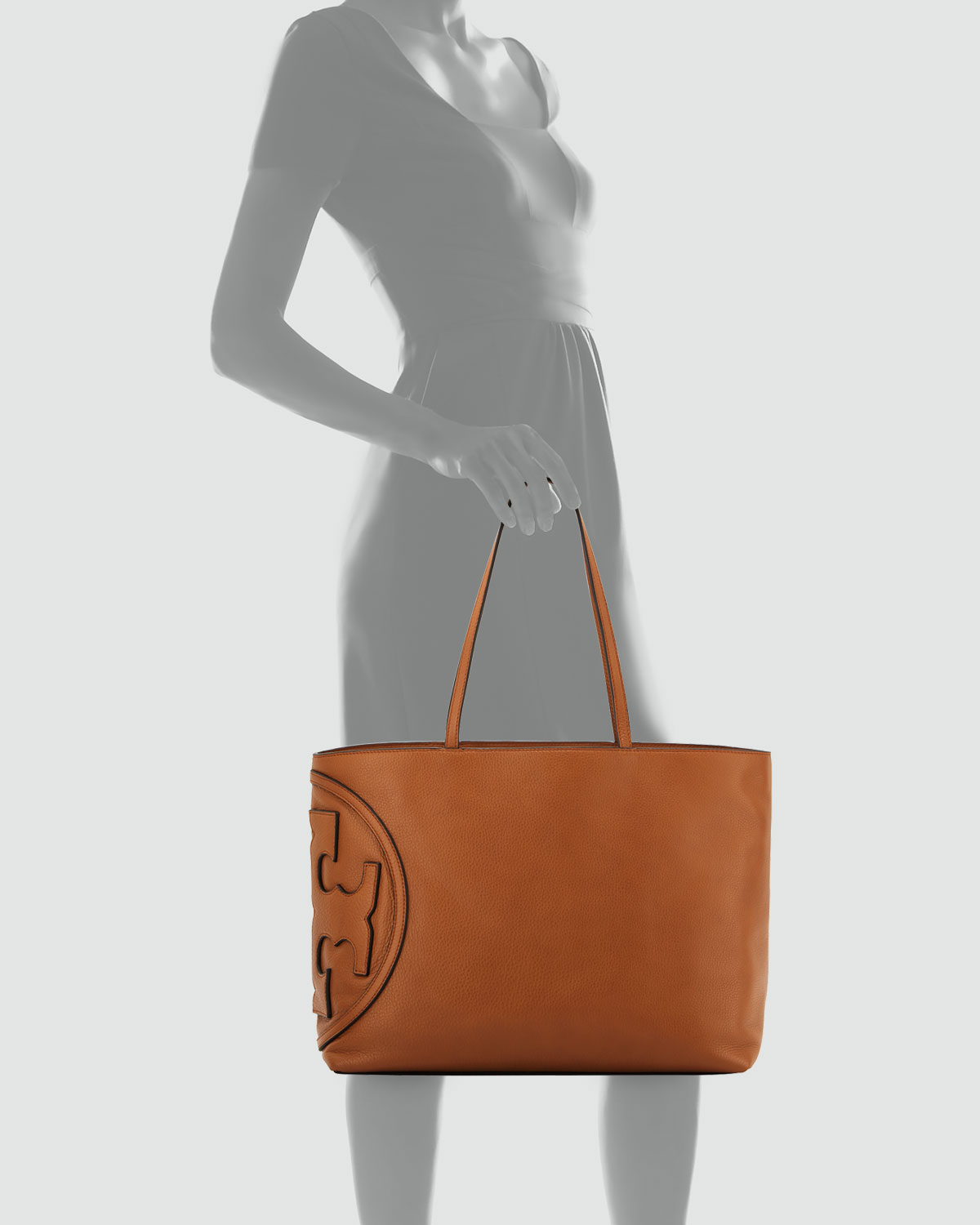 Lyst - Tory Burch All T East-West Leather Tote in Brown 0aa7a91ef351