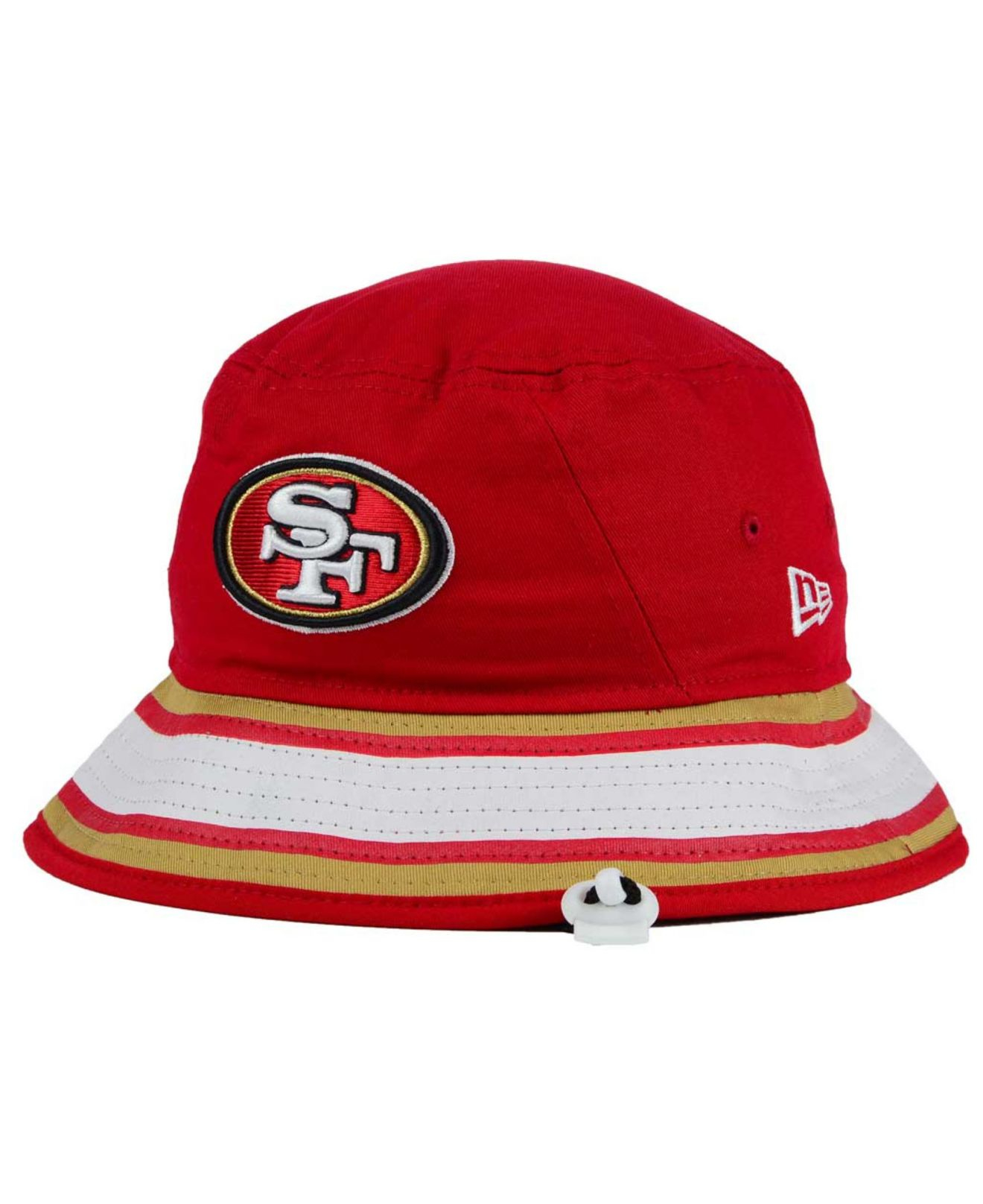 lyst ktz san francisco 49ers team stripe bucket hat in