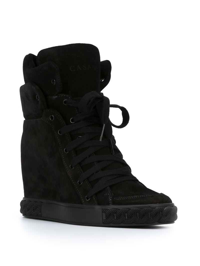 39e97a7a8eb Lyst - Casadei Concealed Wedge Sneakers in Black