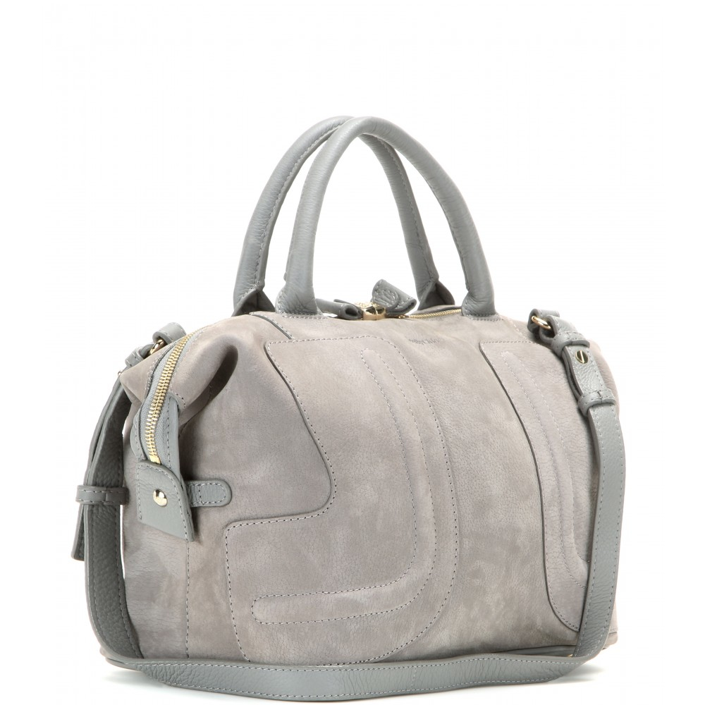 Lyst - See By Chloé Kay Suede Tote in Gray 23e6cd727f9