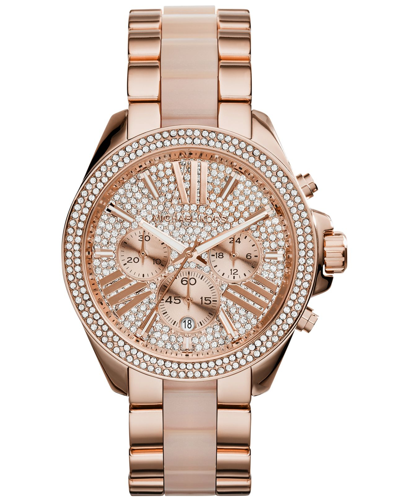 a4013b1794b5f All Diamond Rose Gold Michael Kors Watch - HD Image Flower and Rose ...