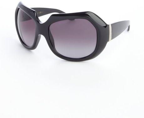 Saint Laurent Black Acrylic Thick Frame Large Rectangle ...