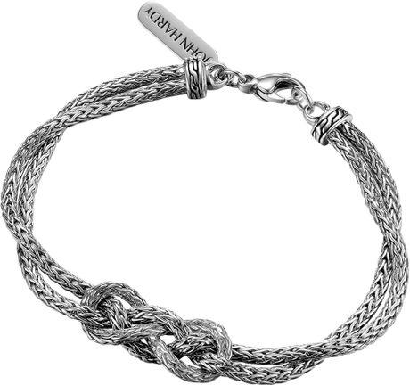 John Hardy Classic Chain Silver Love Knot Bracelet In