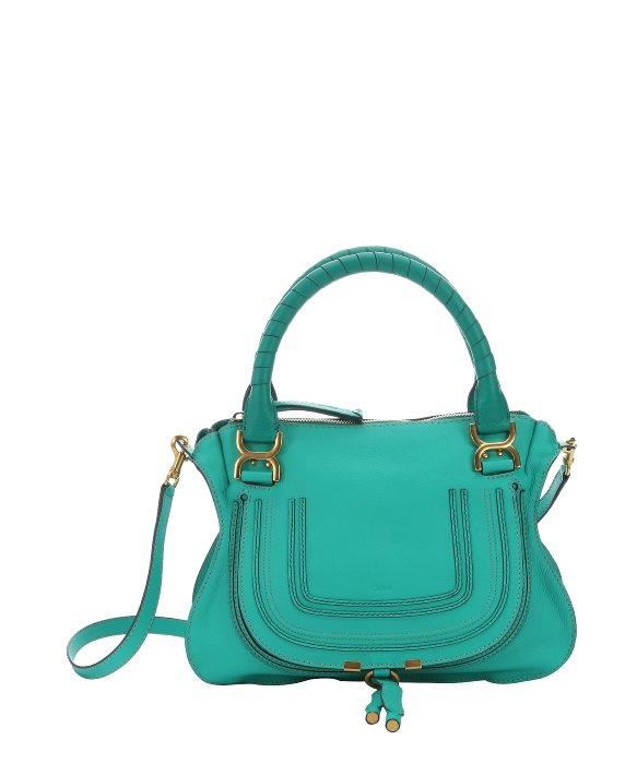 chloe marcie saddle bag - Chlo�� Jade Green Calfskin \u0026#39;Marcie\u0026#39; Medium Convertible Top Handle ...
