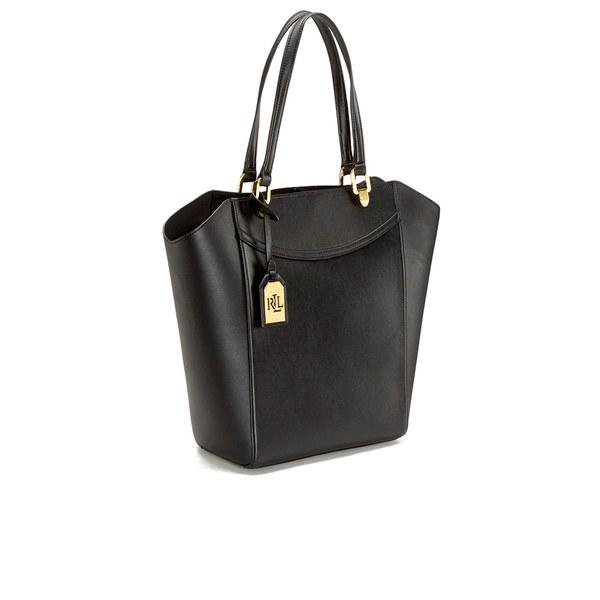 Lauren by Ralph Lauren Women s Lexington Tote Bag in Black - Lyst 70b98baf64