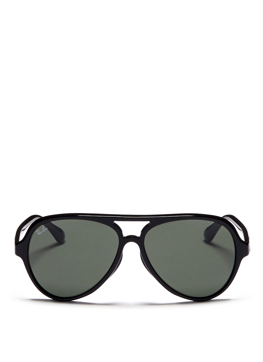 Lyst - Ray-ban Acetate Aviator Sunglasses in Black for Men