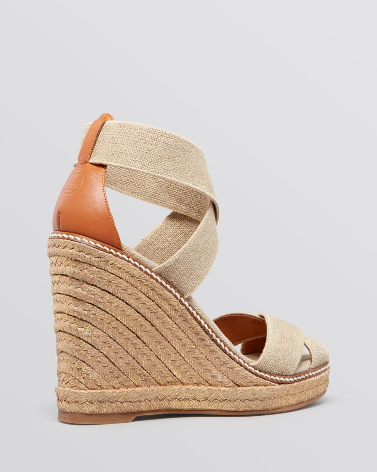 076ff35d8c Tory Burch Platform Wedge Espadrille Sandals Adonis in Natural - Lyst