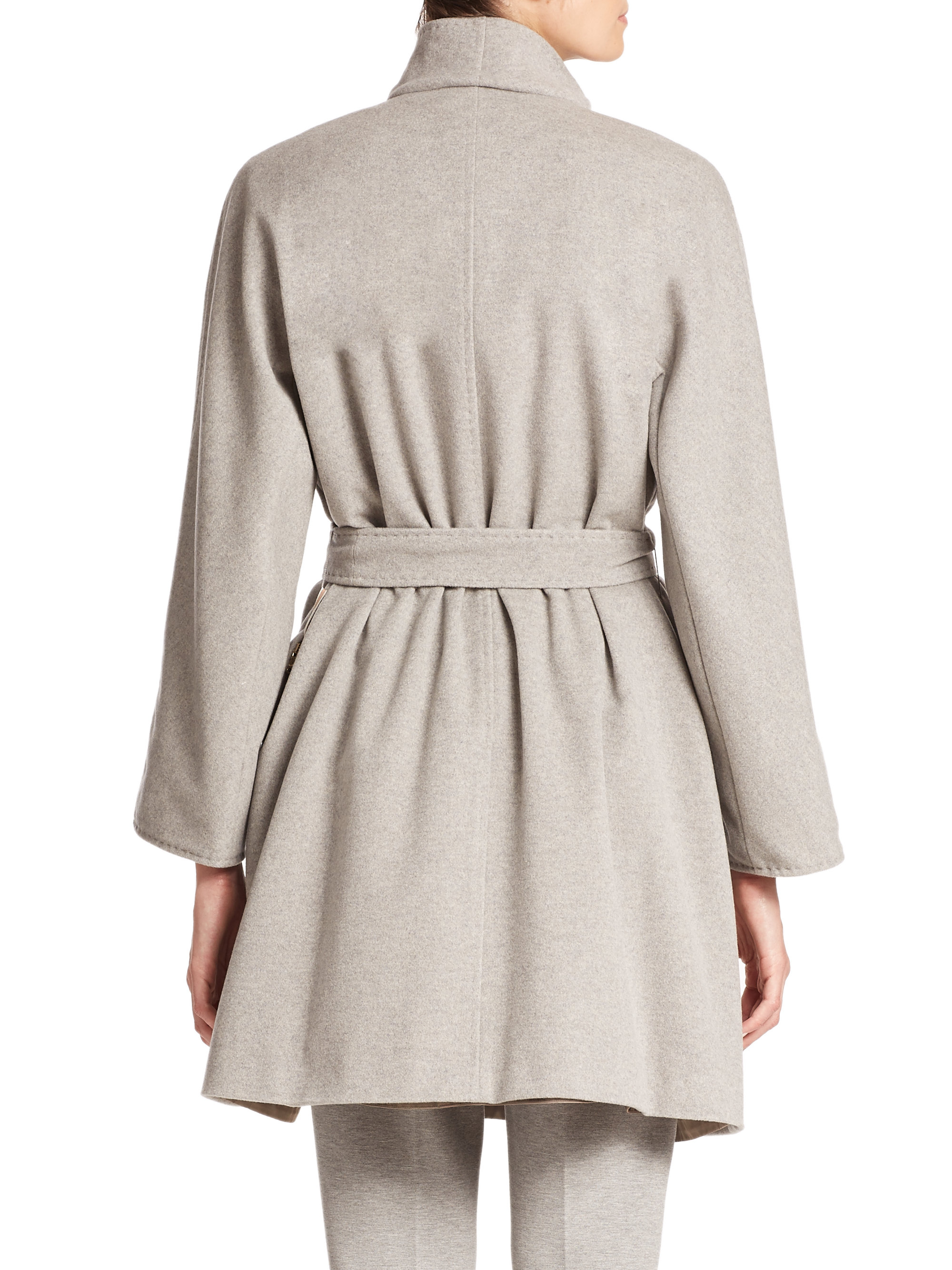 Lyst Max Mara Nerina City Reversible Coat In Gray