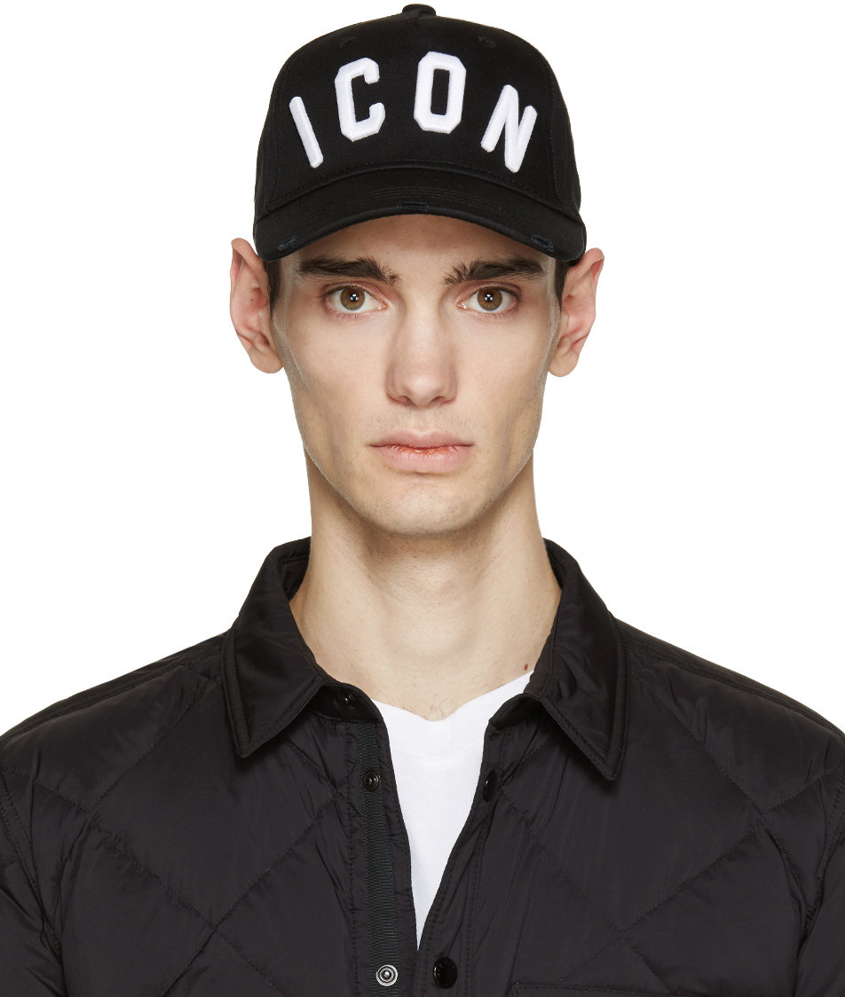 Lyst Dsquared 178 Black Icon Cap In Black For Men