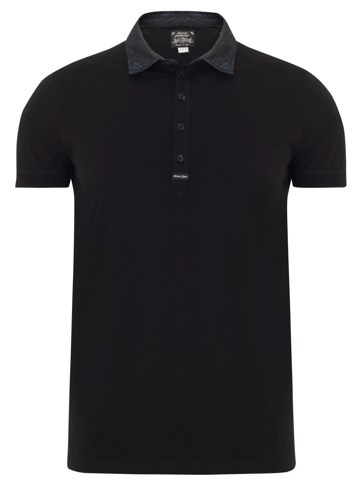 diesel tfreiral polo shirt in black for men lyst. Black Bedroom Furniture Sets. Home Design Ideas