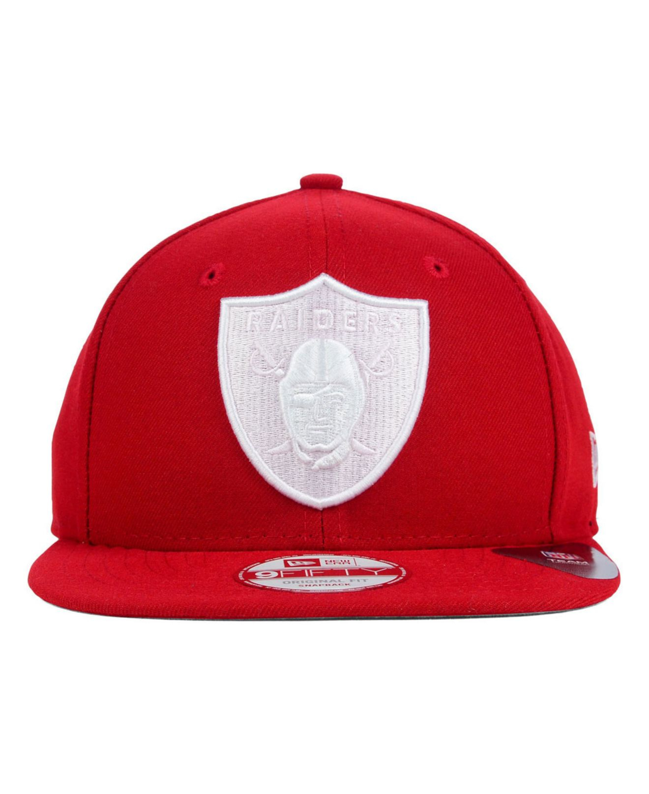 1db7a89790a ... france lyst ktz oakland raiders original fit 9fifty snapback cap in red  96313 7fc0f where to buy new era ...
