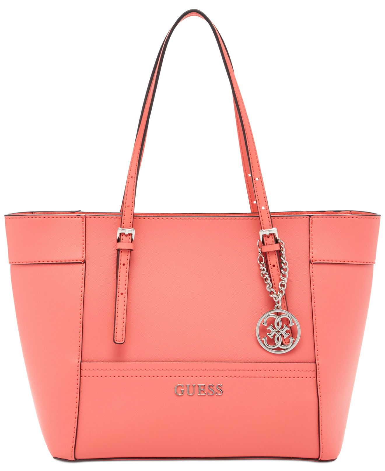 Guess Delaney Small Classic Tote in Pink