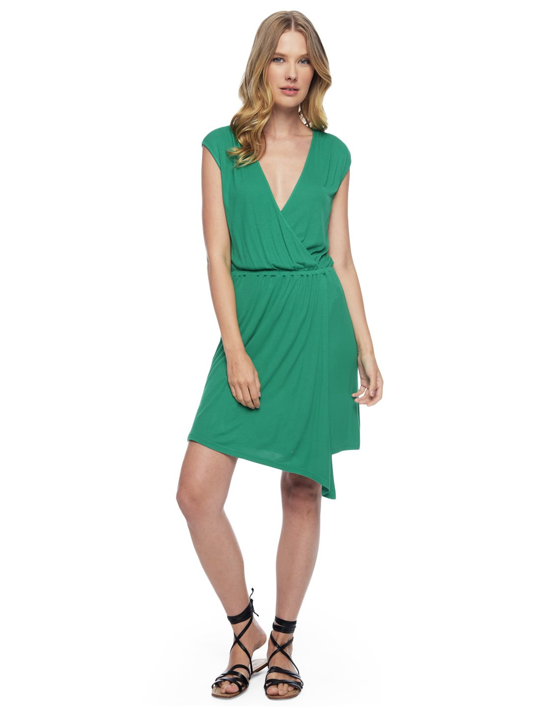 Lyst Splendid Asymmetrical Dress In Green