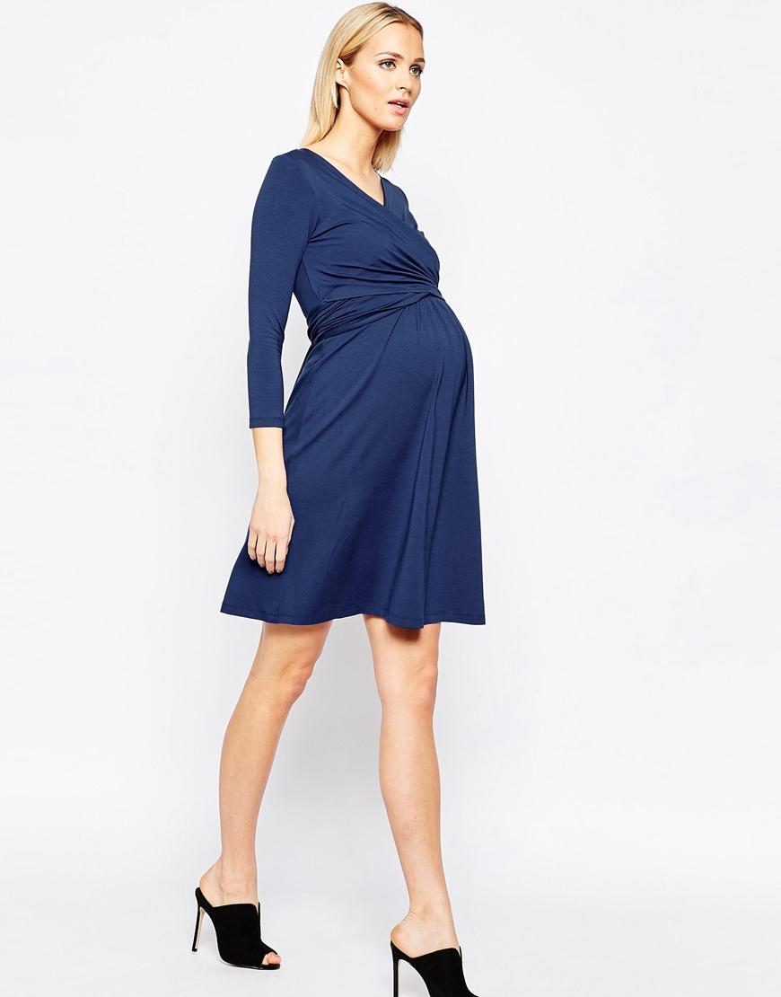 588ccc0468d Isabella Oliver Nursing Short Sleeve Wrap Dress With Tie Waist - Lyst