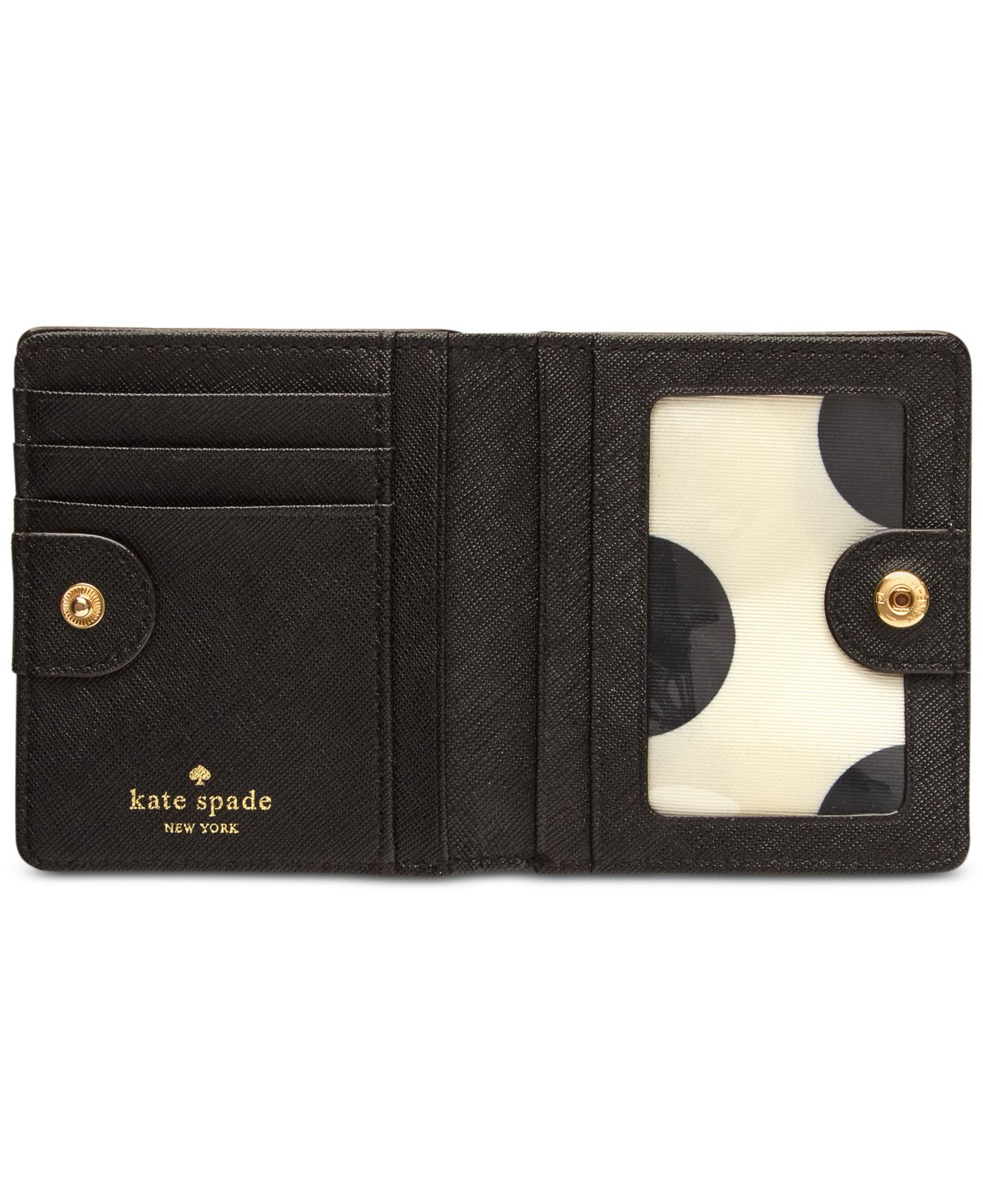 Kate Spade New York Small Stacy Bifold Wallet In Black Lyst
