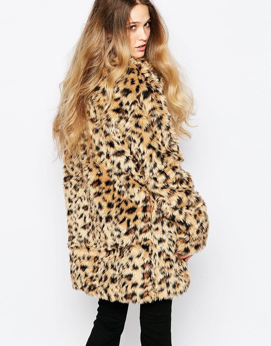 Raga Leopard Print Faux Fur Coat | Lyst