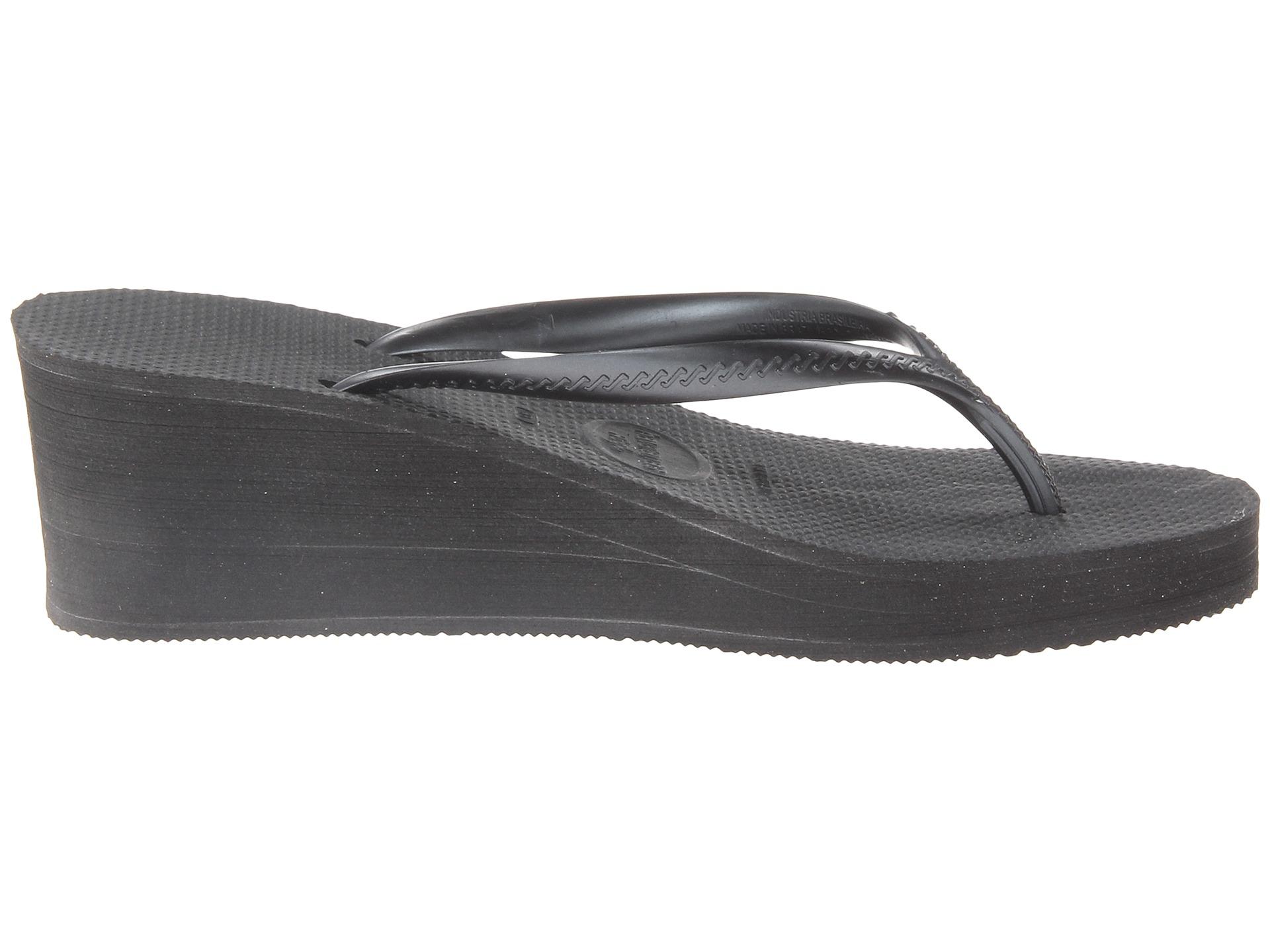 Havaianas High Fashion Flip Flops In Black  Lyst-9622