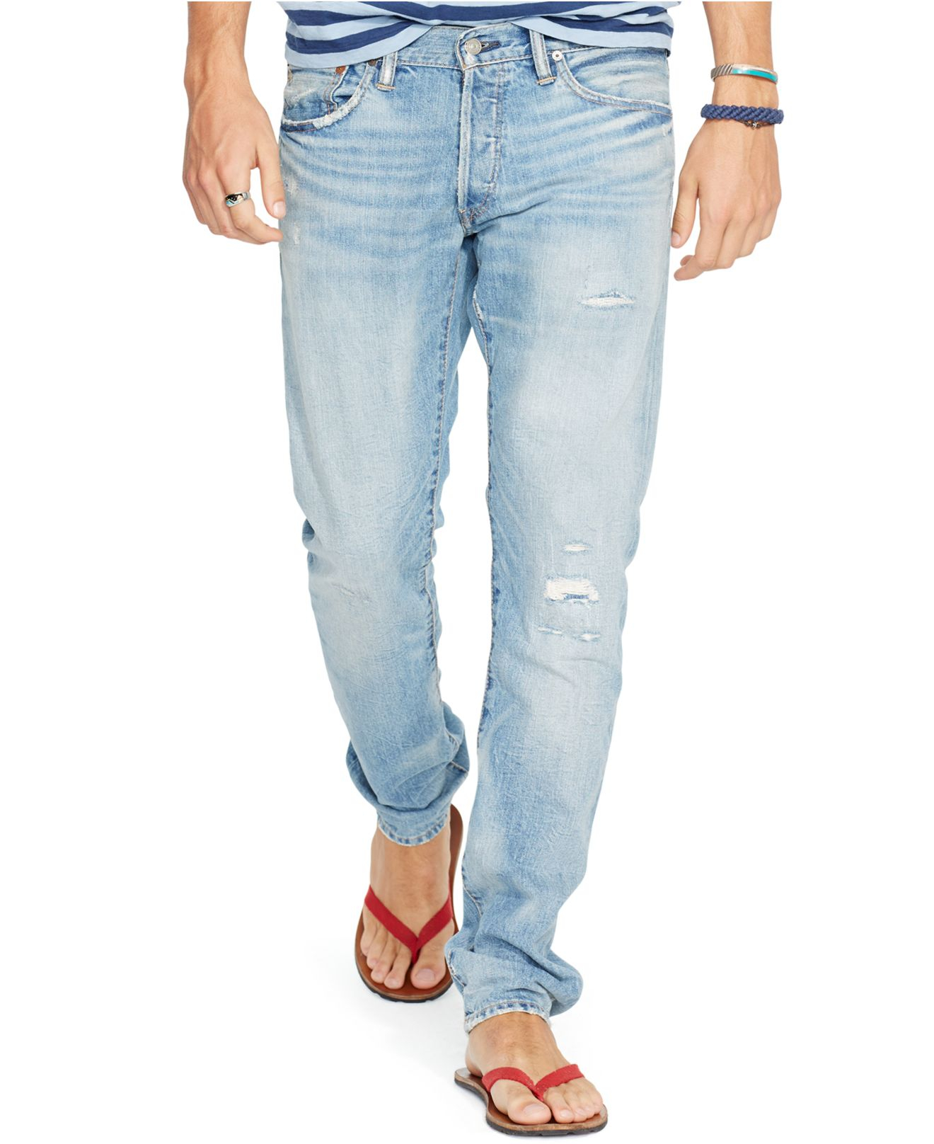 810eff0c0afb Polo Ralph Lauren Sullivan Slim-fit Emery-wash Stretch Jeans in Blue ...
