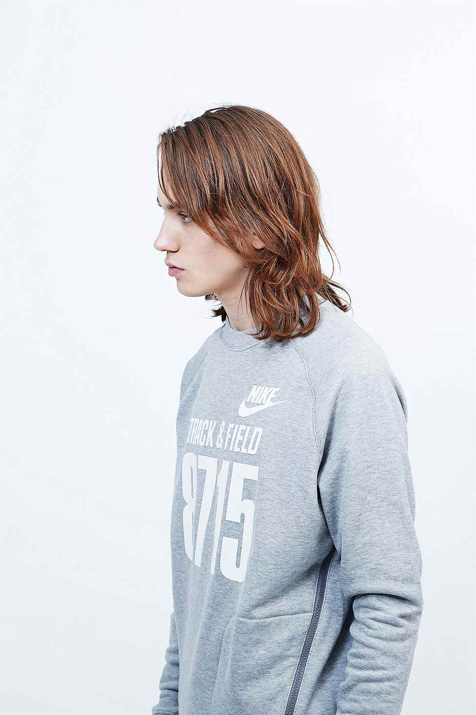 For Men Grey Lyst Sweatshirt Field In Track And Nike 8715 Gray qz6ZY8