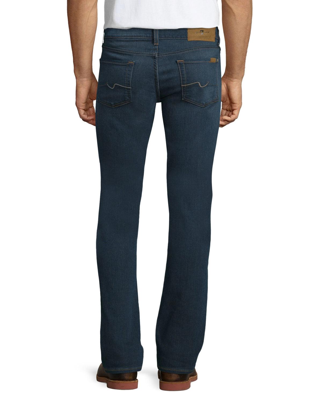 for all mankind washed melange denim jeans in blue for men lyst. Black Bedroom Furniture Sets. Home Design Ideas