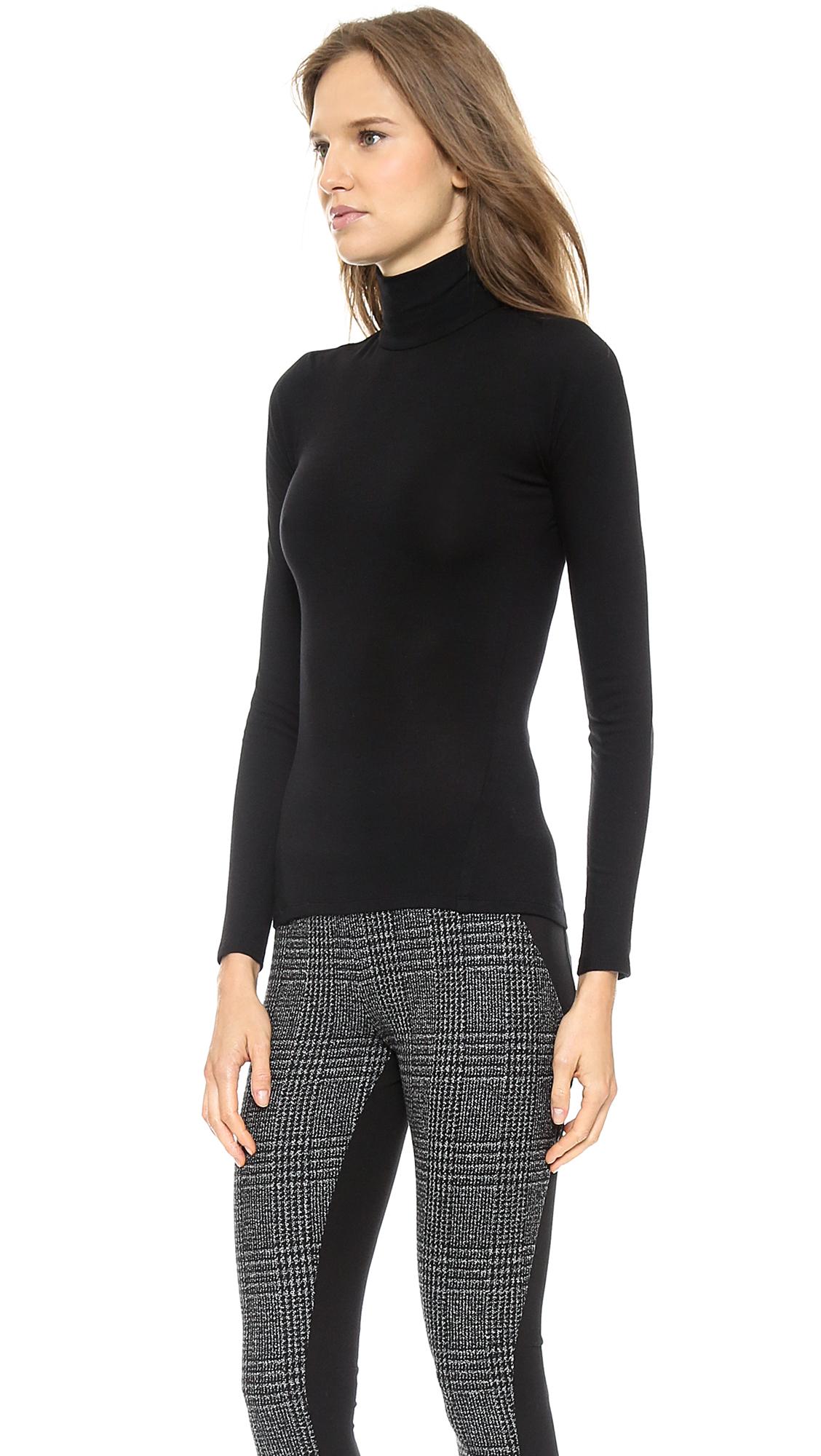 Donna karan new york turtleneck with cutout back black for Donna karan new york