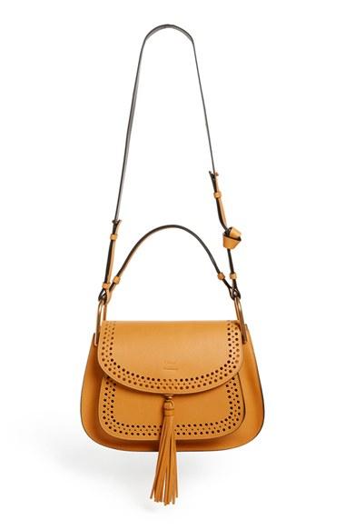 chloe marcie replica handbags - Chlo�� Hudson Calfskin Shoulder Bag in Beige (SUNFLOWER YELLOW) | Lyst