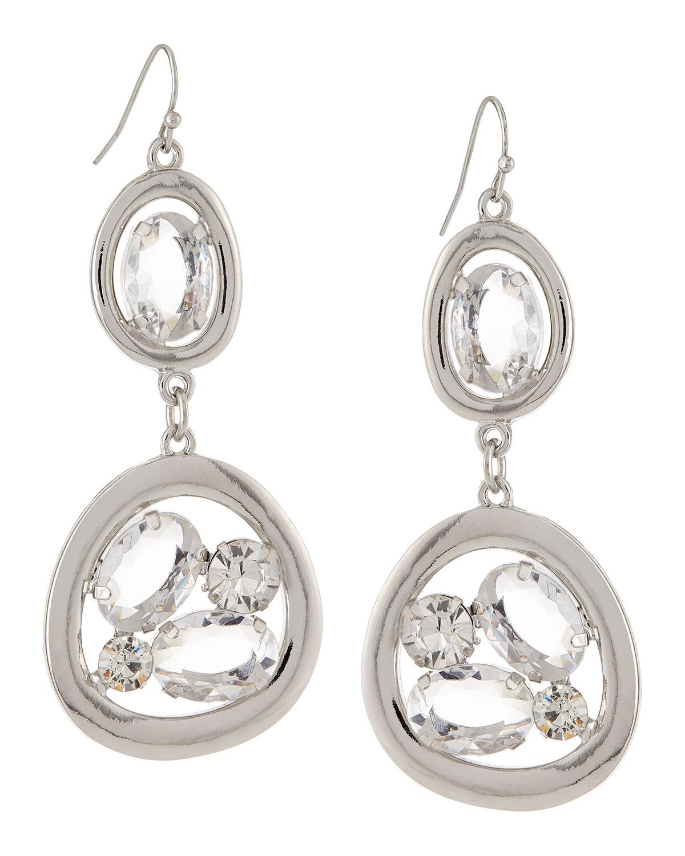 r j graziano open drop earrings in