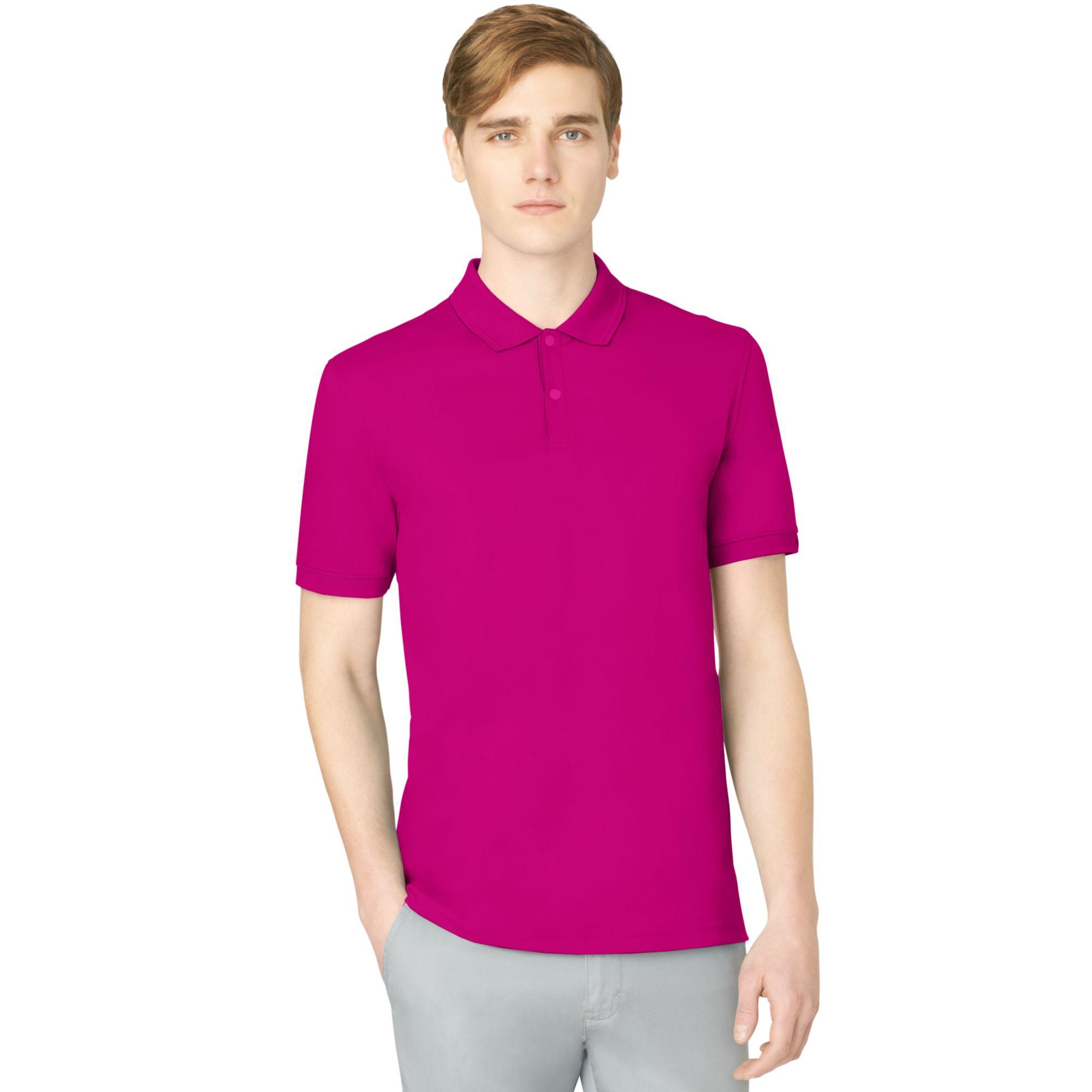 Calvin Klein Liquid Cotton Polo Shirt In Purple For Men