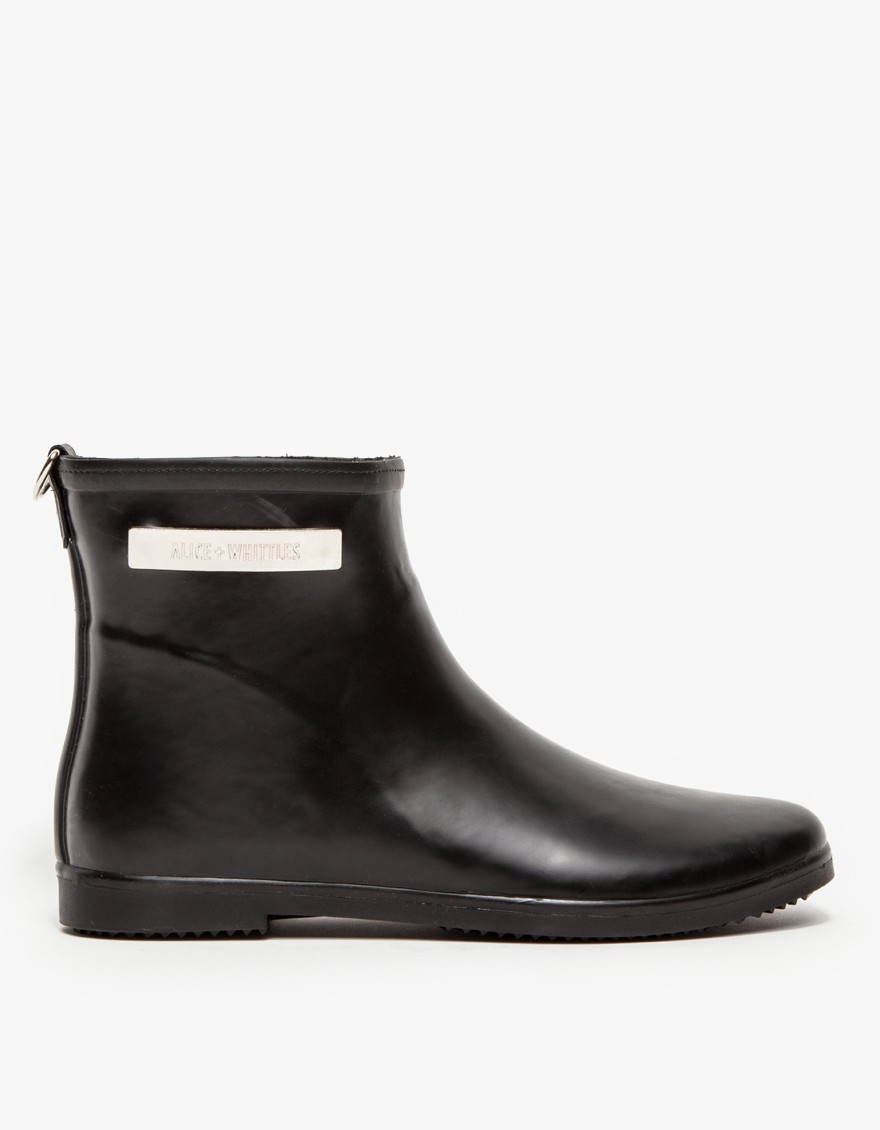 and whittles rubber ankle boot in black noir lyst