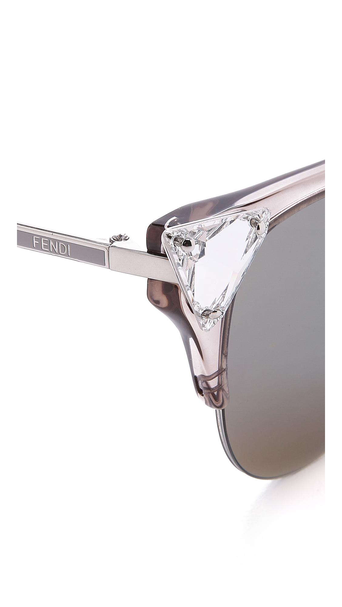 c436cdad387e Fendi Crystal Corner Sunglasses - Transparent Blue burgundy in Gray ...