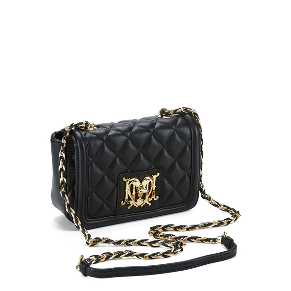 709de46883a8 Love Moschino Women s Quilted Small Cross Body Bag in Black - Lyst