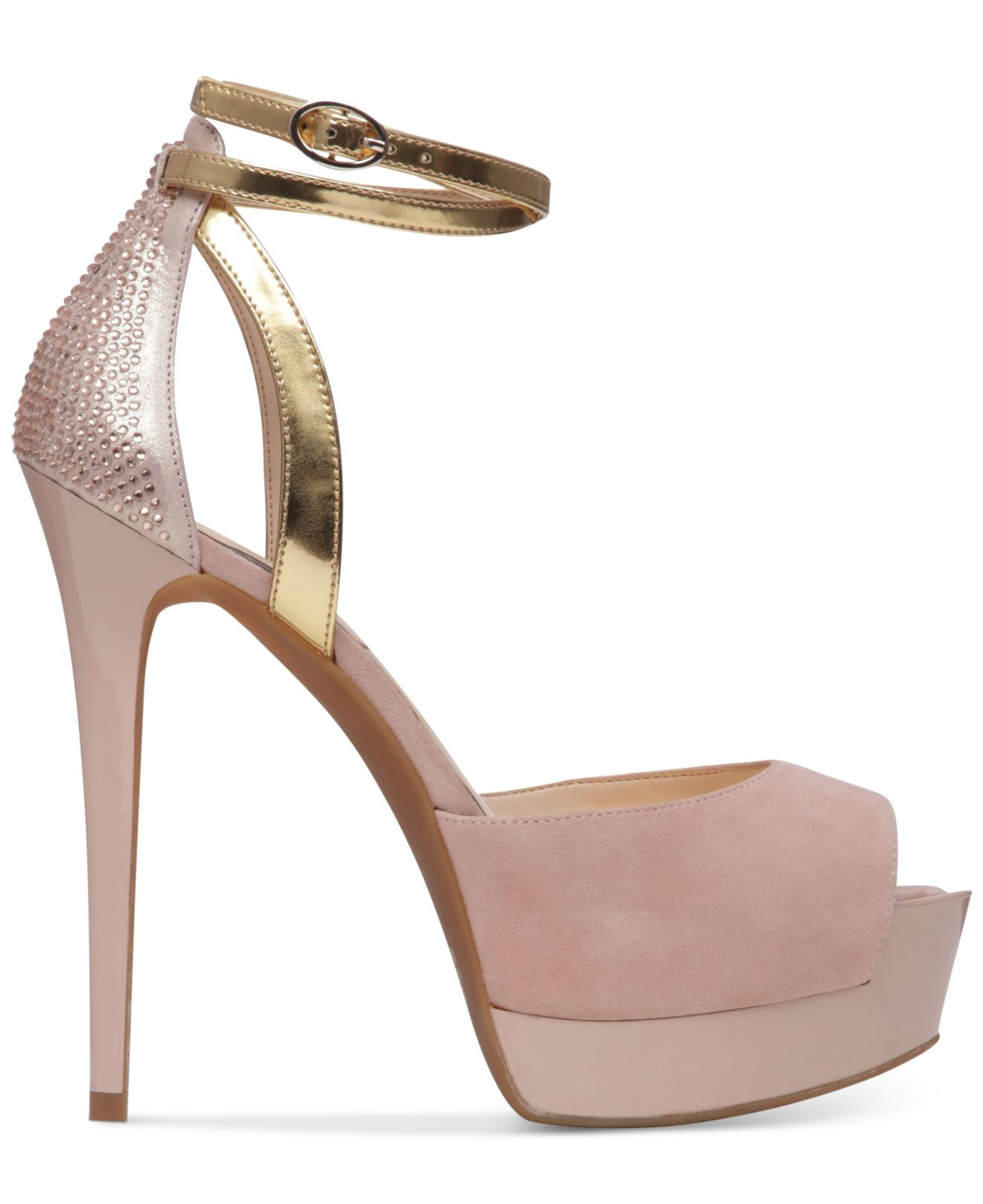 0cff2d9edbc3 Lyst - Jessica Simpson Koen Ankle-strap Platform Pumps in Natural