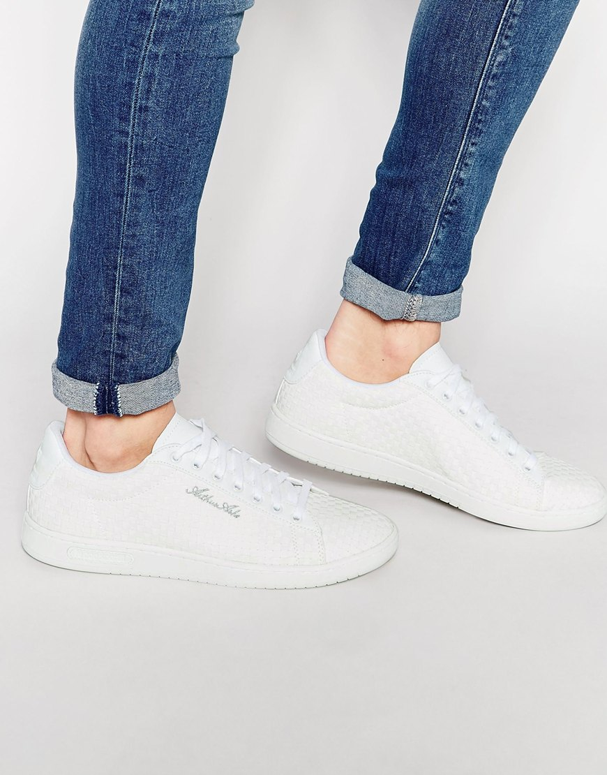 386148b36a16 Lyst - Le Coq Sportif Arthur Ashe Woven Trainers - White in White ...