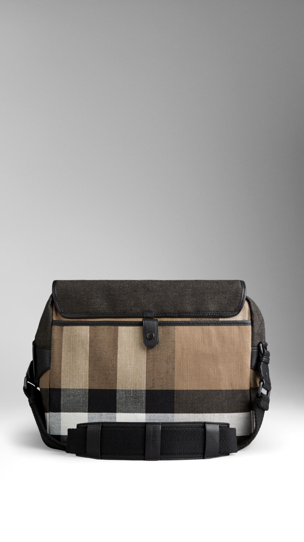 Burberry Canvas Check Messenger Bag in Black for Men - Lyst 5ac489cca39ae
