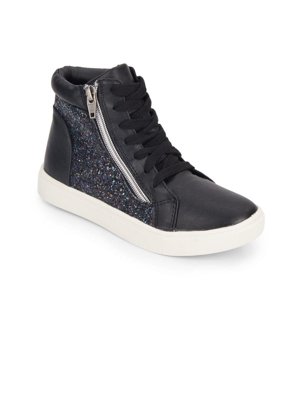 girl black high top sneakers Shop