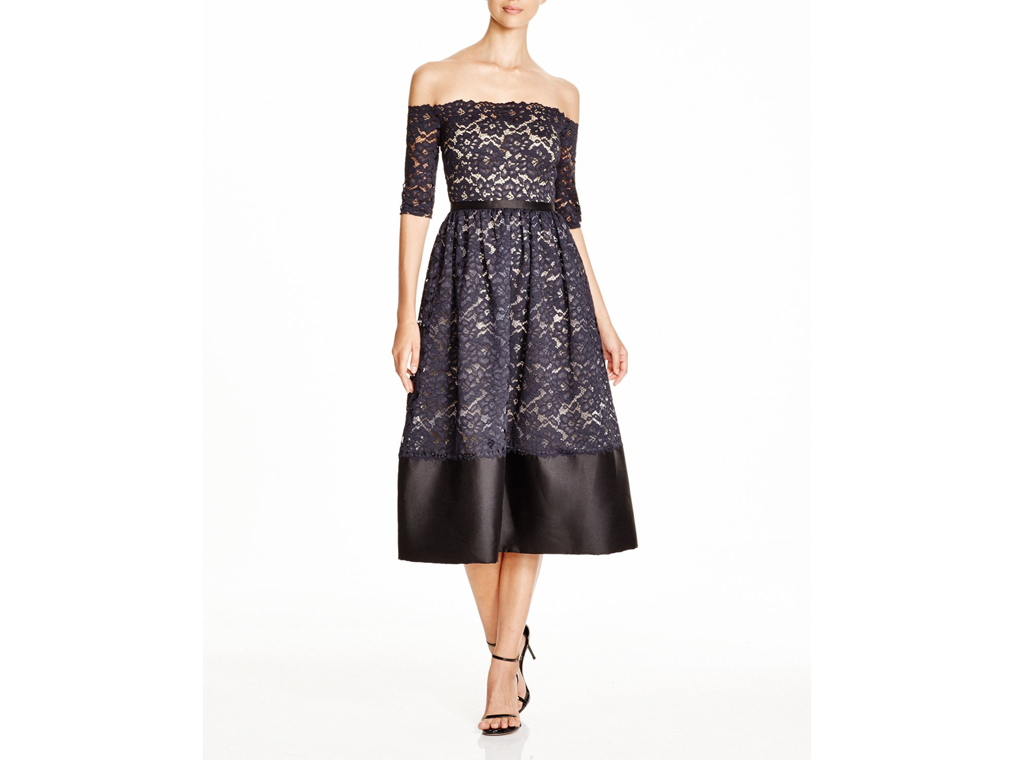 Lyst - Ml monique lhuillier Ml Monique Lhuiller Off-the-shoulder ...