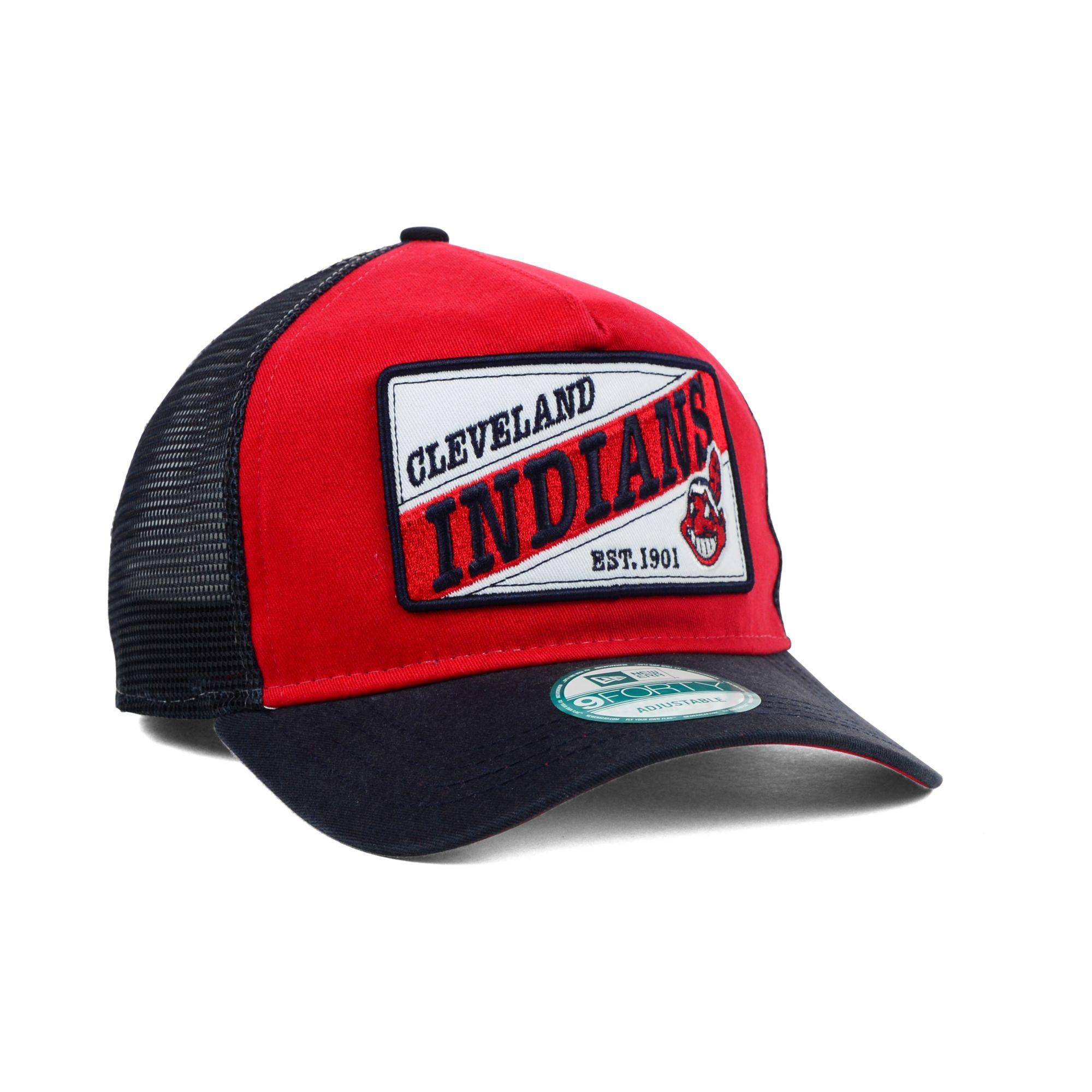 37423d2bf05 ... ebay lyst ktz cleveland indians mlb 18 wheeler 9forty cap in red for  men 7f2ab 18b41