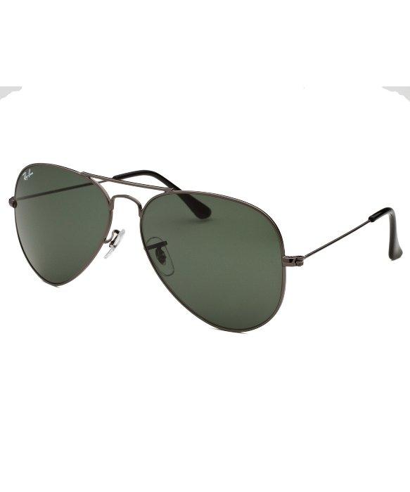 ray ban aviator green lens