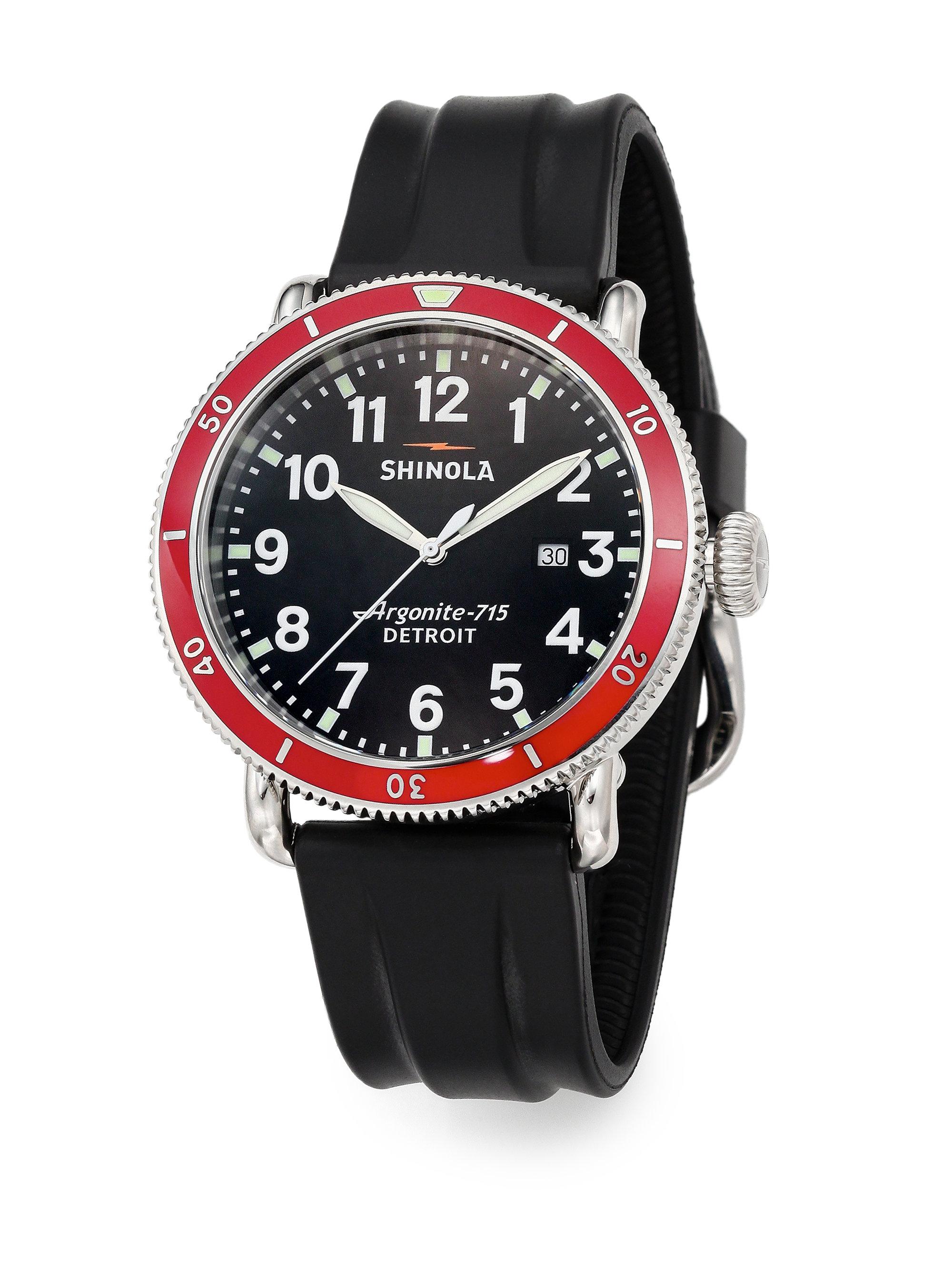 Lyst shinola runwell sport chronograph watch in black for men for Shinola watches
