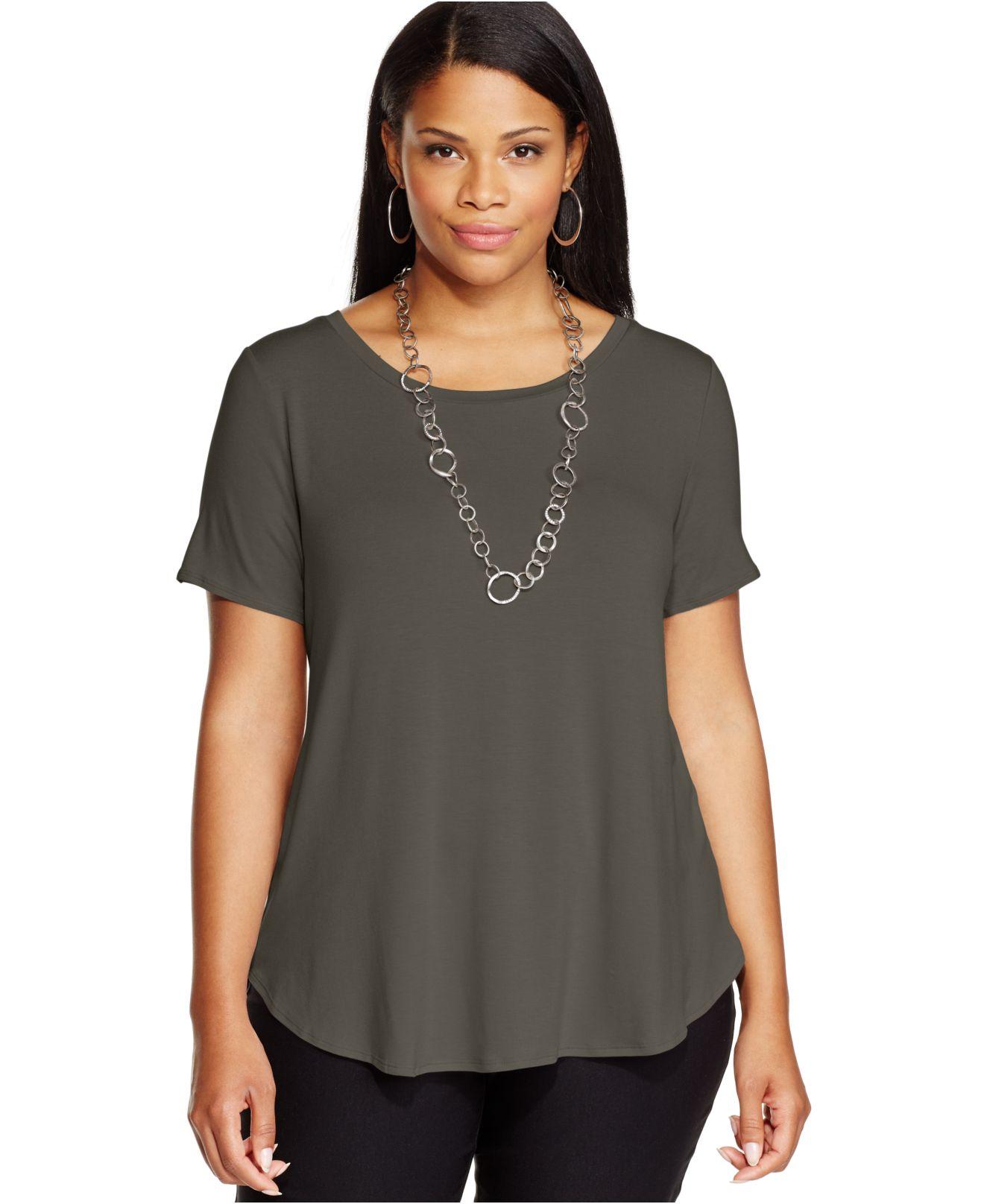 Alfani Plus Size High Low T Shirt In Black Modern Aqu Lyst
