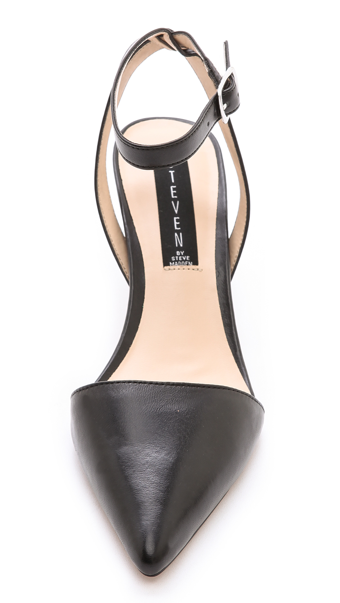 Lyst - Steven by steve madden Caydence Ankle Strap Low Heels in Black