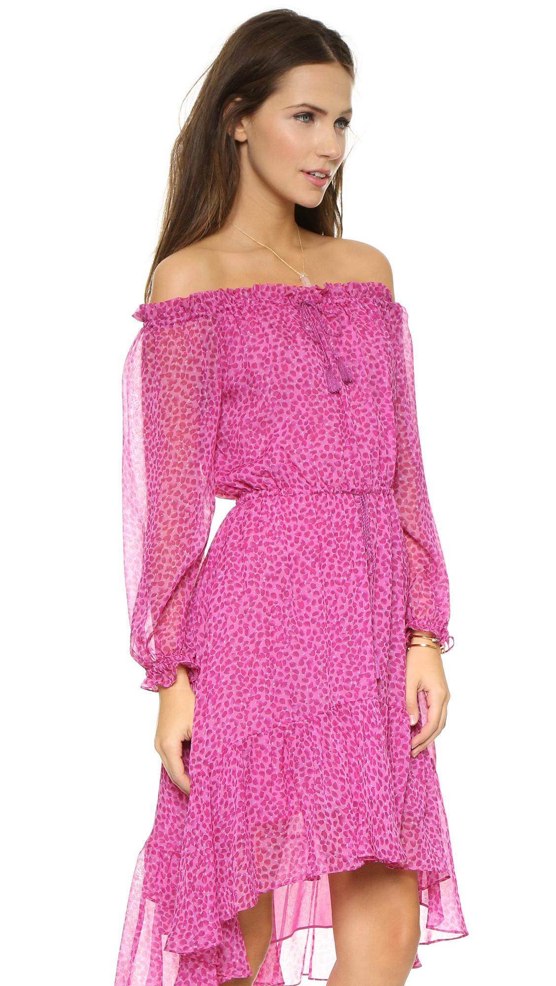 Diane Von Furstenberg Camila Dress In Pink Petal Dreams