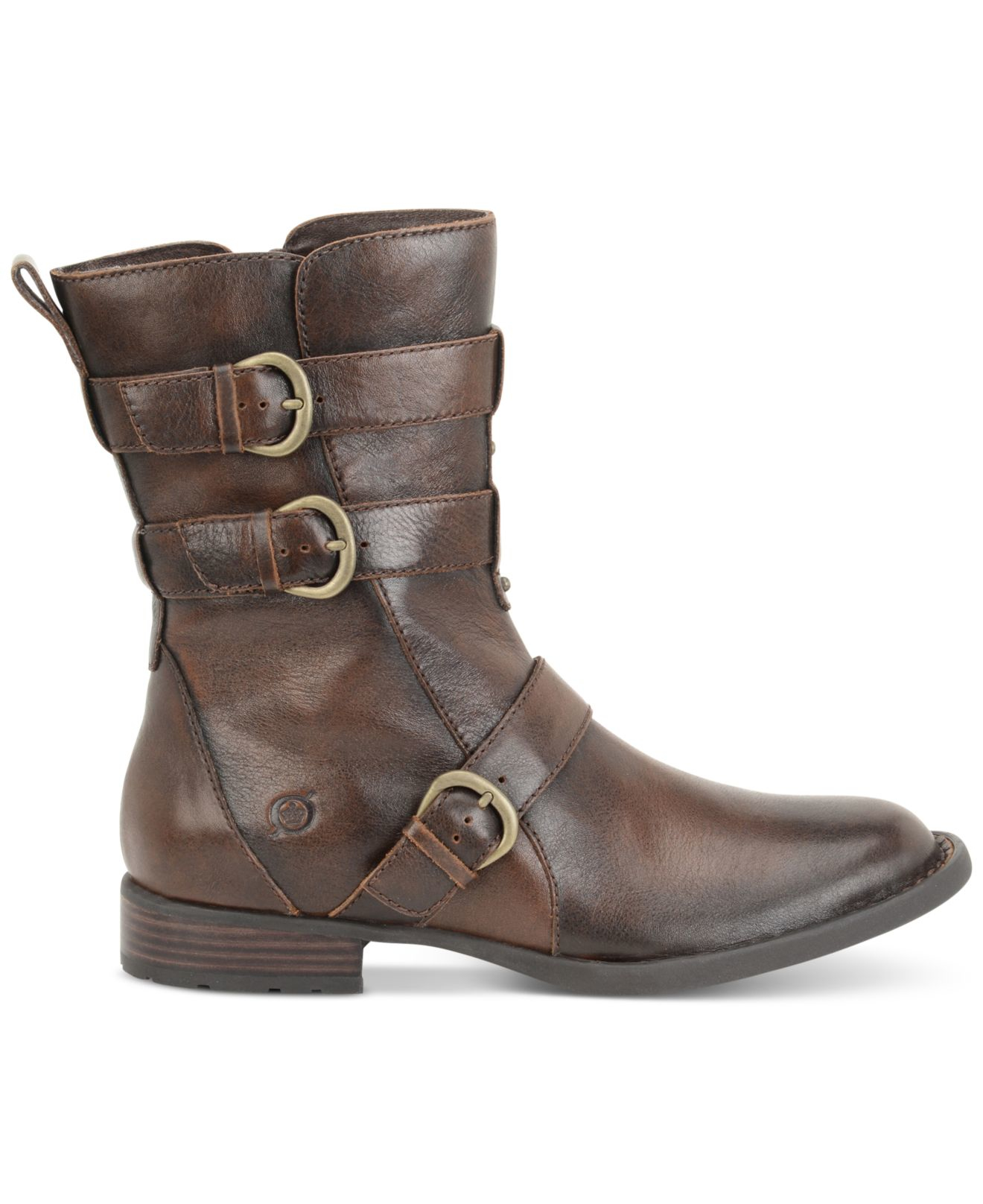 born cincy mid shaft boots in brown cognac lyst