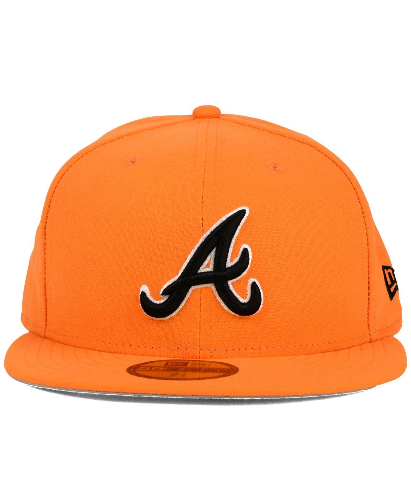 6d6ddeb4531324 ... purchase lyst ktz atlanta braves c dub 59fifty cap in orange for men  61b31 2c558