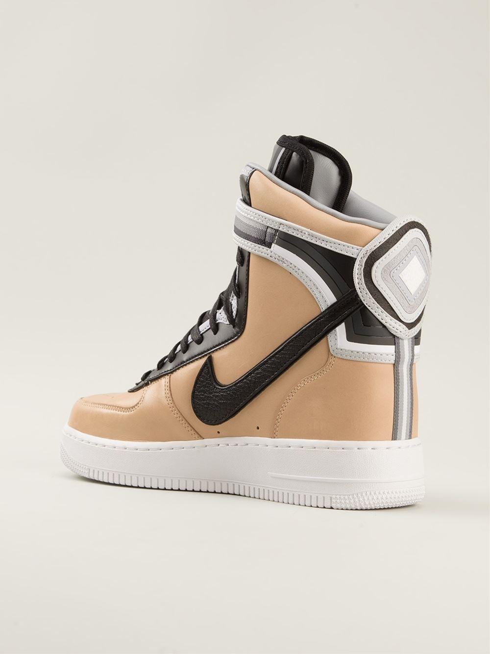 Nike Riccardo Tisci Beige Pack Air Force 1 Hi-Tops In -2871