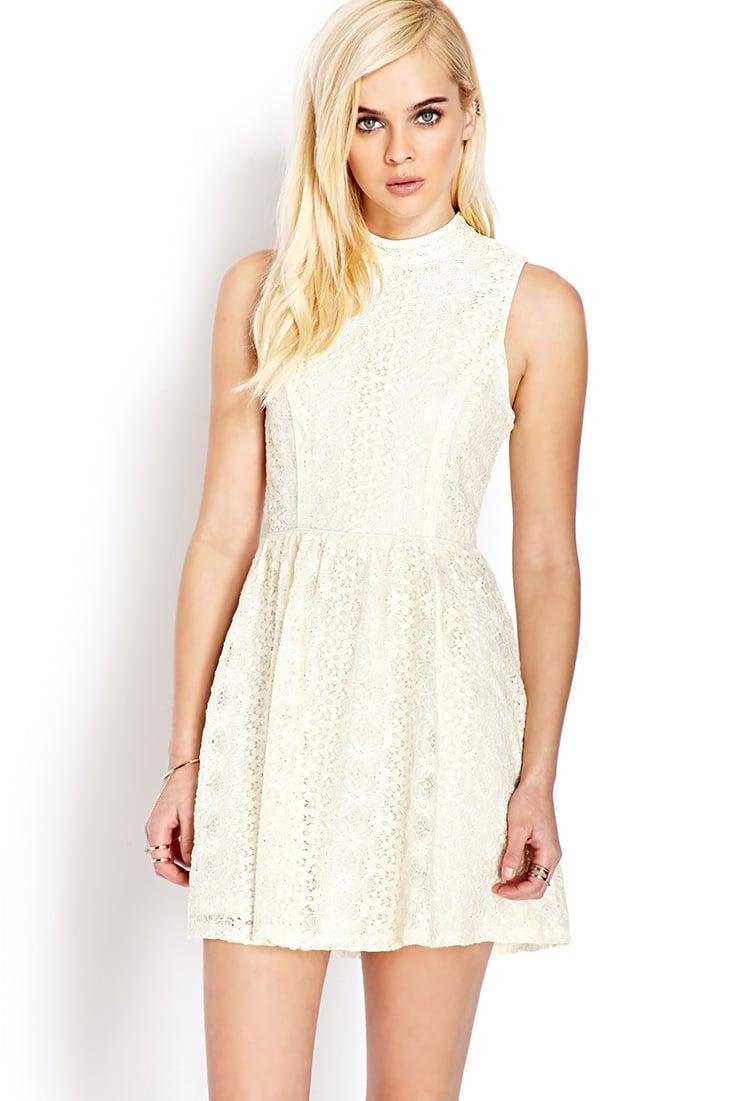 e41f933cc0 Forever 21 Sweet Side Crochet Lace Dress in White - Lyst