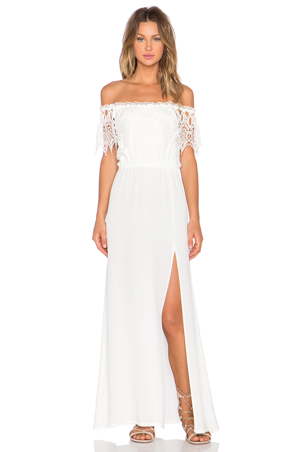 Lyst stone cold fox rupp maxi dress in white gallery ombrellifo Images