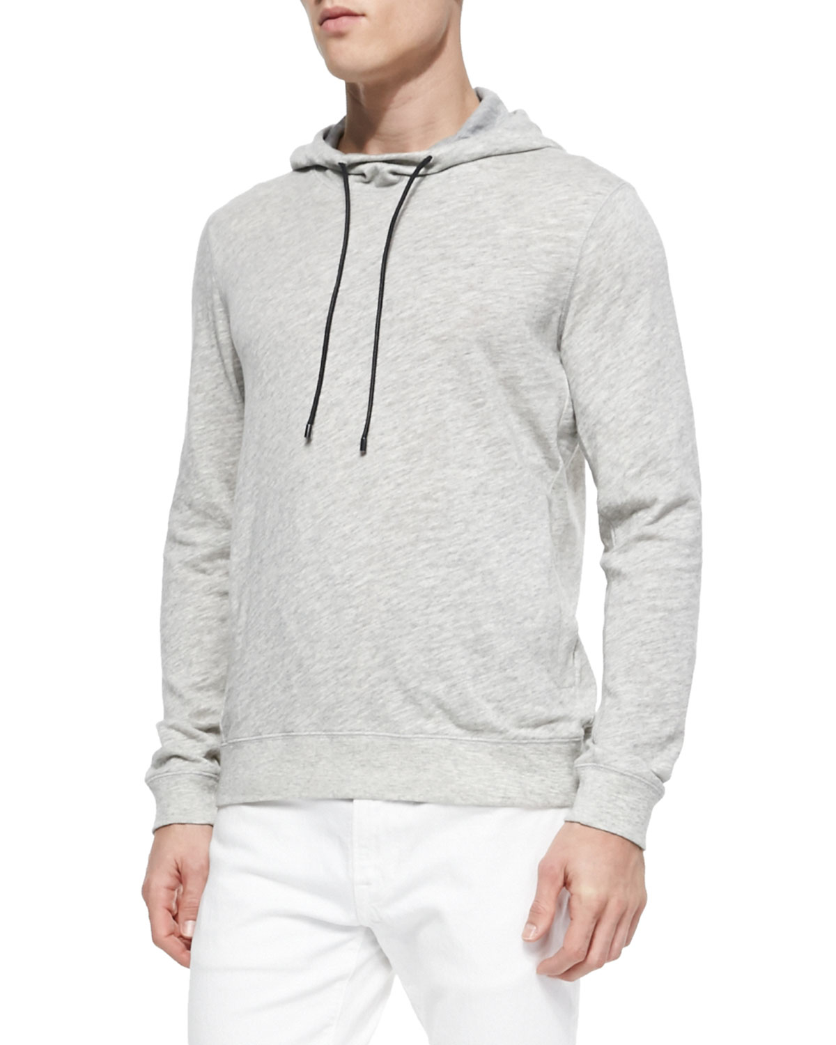 Vince Vintage Melange Pullover Hoodie in Gray for Men | Lyst