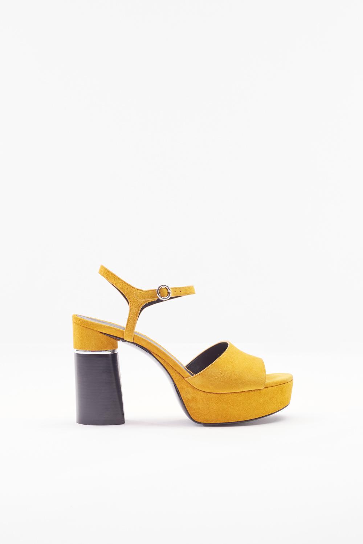 bd0ab2aee85f 3.1 Phillip Lim Ziggy Suede Platform Sandal in Yellow - Lyst
