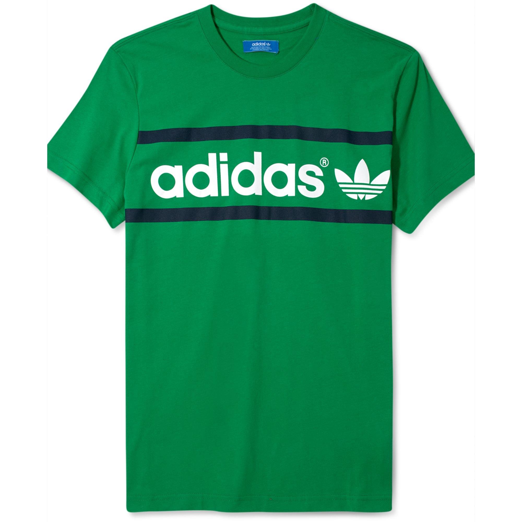 826d156c3a4 Lyst - Adidas Originals Heritage Logo T Shirt in Green for Men